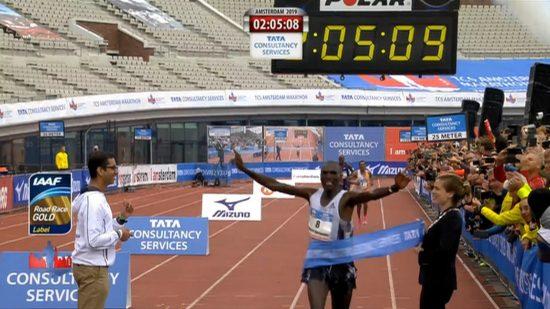Il keniota Vincent Kipchumba vince la TCS Amsterdam Marathon