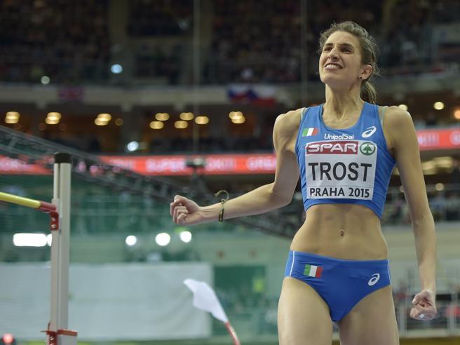 Alessia Trost lascia la guida  dell'allenatore Marco Tamberi