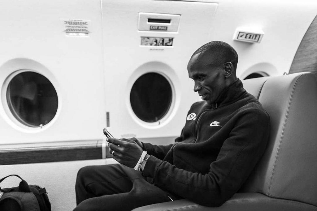 INEOS 1:59-  Eliud Kipchoge arriverà col jet privato oggi 8 ottobre a Vienna