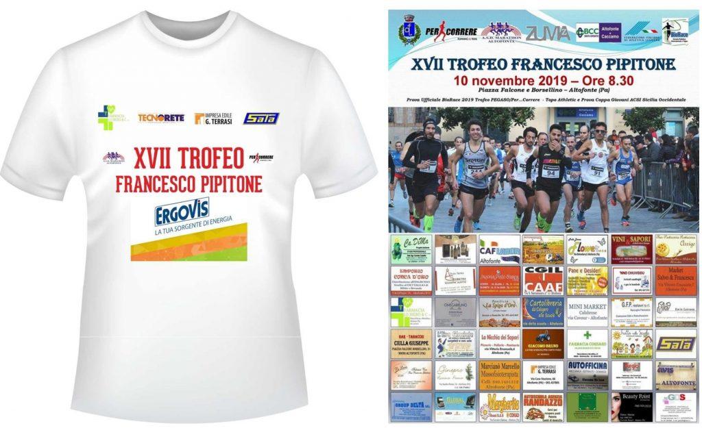 Podismo: Domenica 10 novembre 2019 ad Altofonte si corre il XVII Memorial Podistico F.Pipitone prova ufficiale del BioRace e Coppa Giovani ACSI S.O.