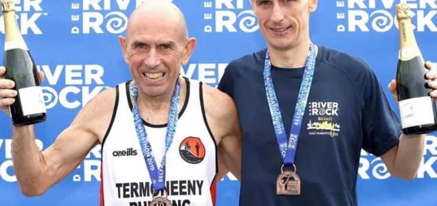 Maratoneta 59enne corre 2:27:52 mentre insieme a suo figlio stabiliscono il record mondiale padre / figlio a Francoforte