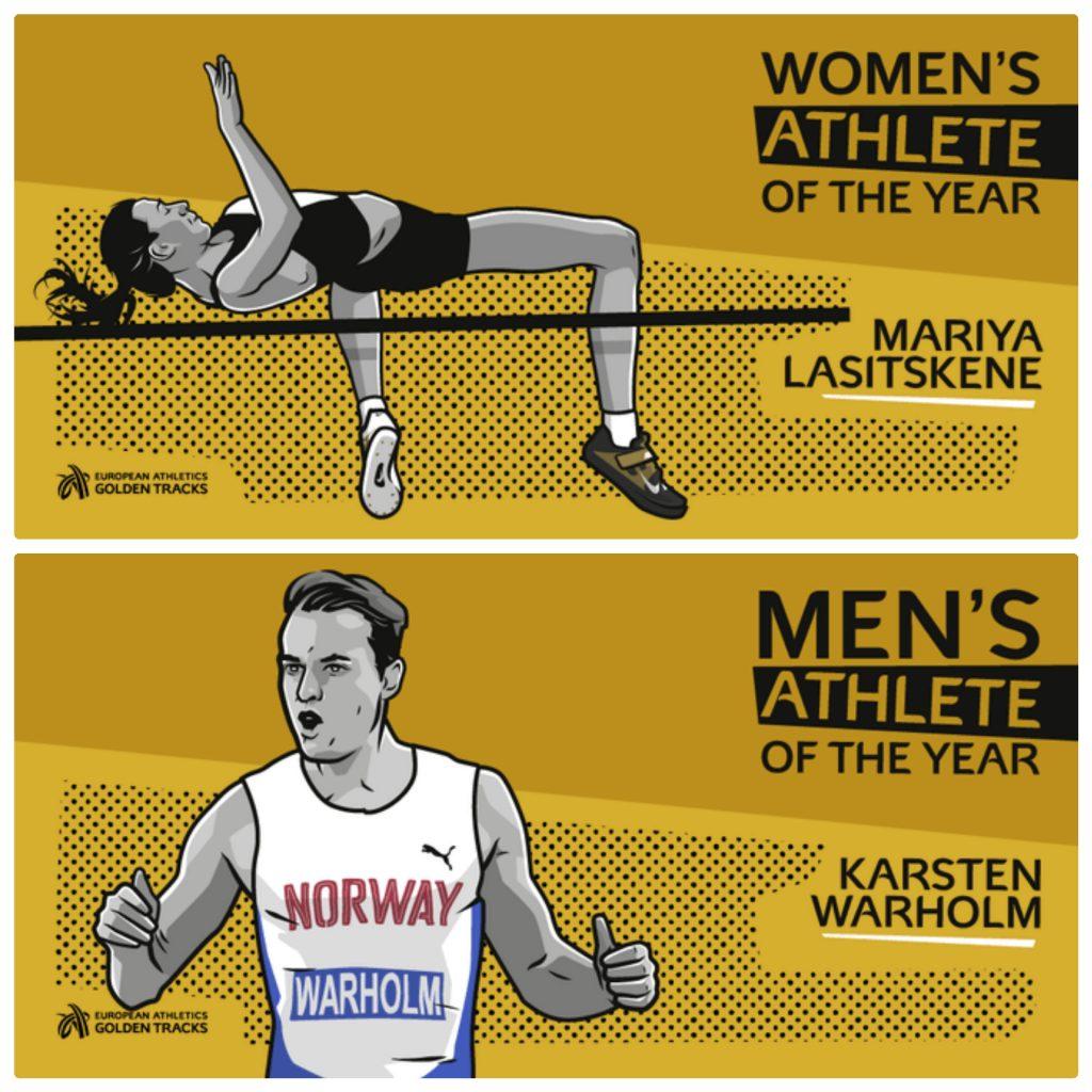 Karsten Warholm e Mariya Lasitskene sono gli atleti europei del 2019