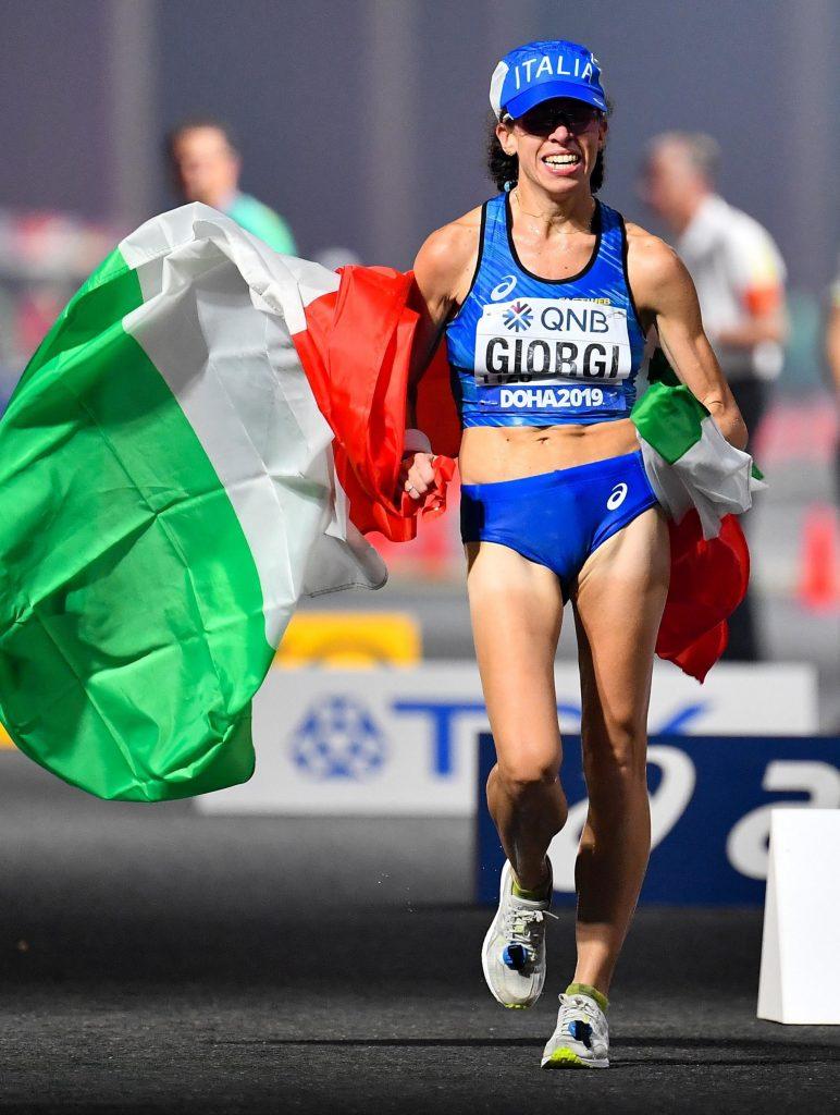 Raduni marcia: Eleonora Giorgi guida gli azzurri in raduno a Tirrenia