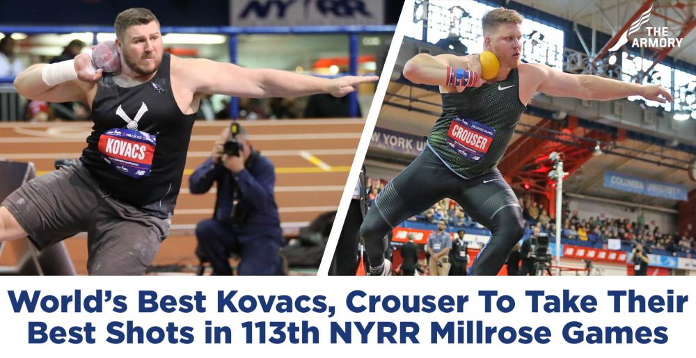 Rivincita Kovacs vs Crouser l'8 febbraio 2020 ai NYRR Millrose Games