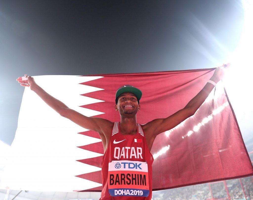 Mutaz Essa Barshim dopo l'oro mondiale nell'alto eletto miglior sportivo del Qatar