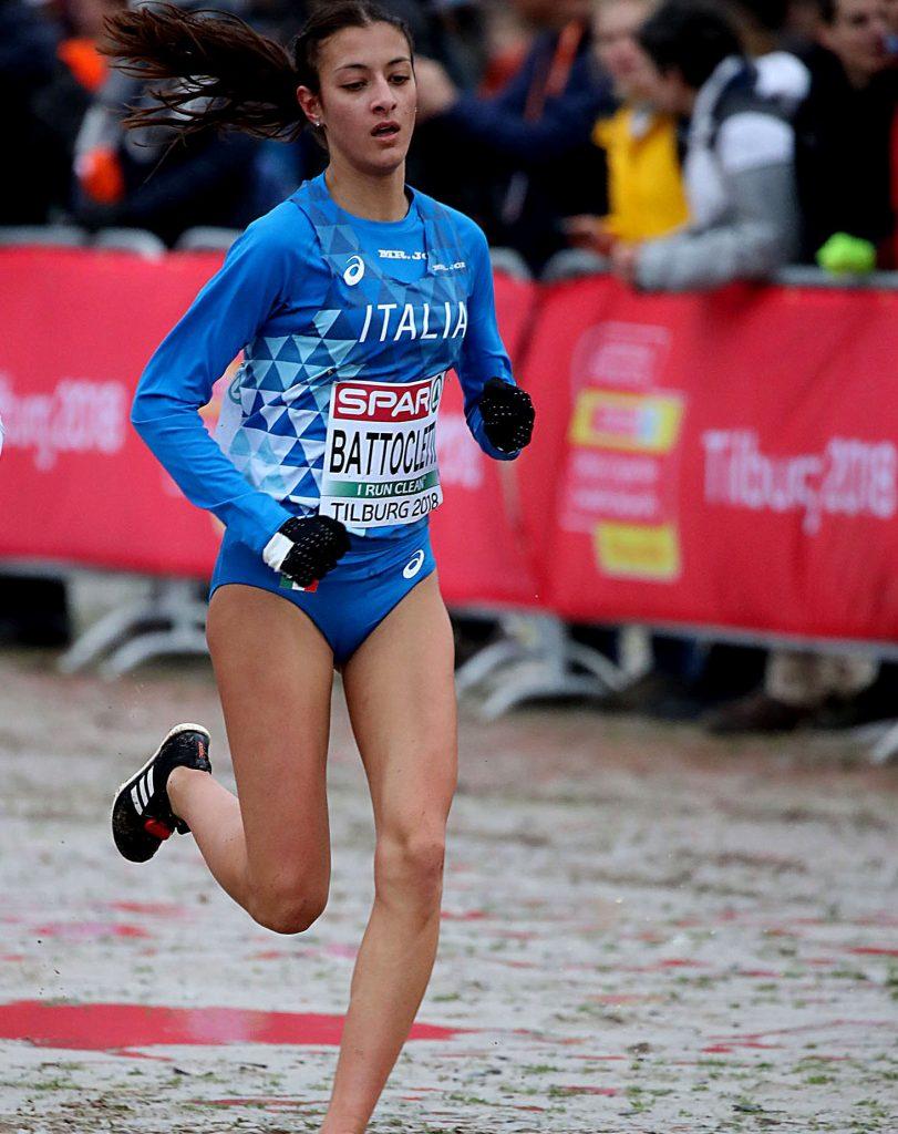 Nadia Battocletti domenica in gara nel cross a Tilburg