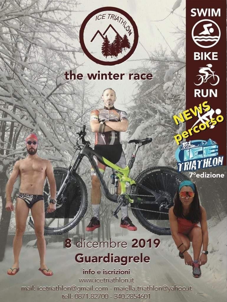 Ice Triathlon: nuoto, mtb, corsa e tante emozioni in arrivo l'8 dicembre a Guardiagrele