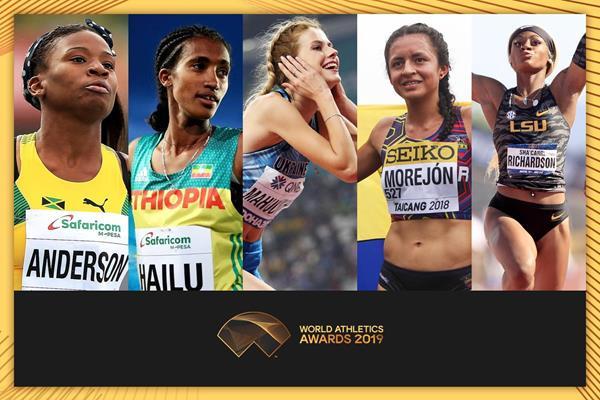 Annunciate le finaliste per la miglior atleta u20 mondiale-2019