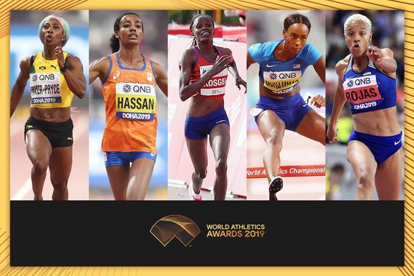 Annunciate le finaliste per l'atleta mondiale femminile dell'anno 2019