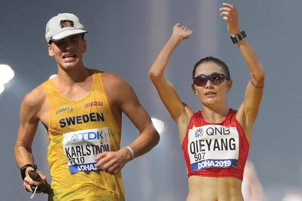 Marcia:KARLSTROM E QIEYANG VINCONO LA IAAF RACE WALKING CHALLENGE 2019
