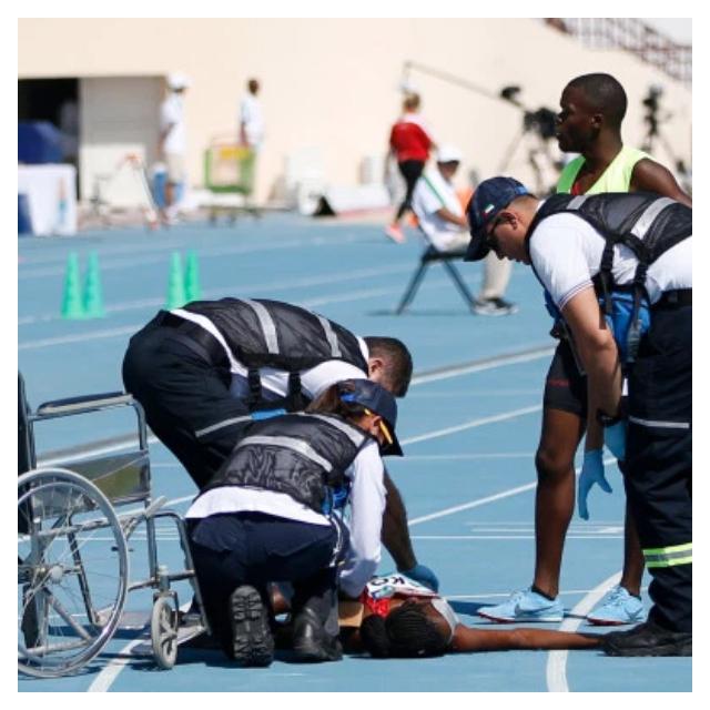 Collassa per il gran caldo durante i mondiali paralimpici di Dubai