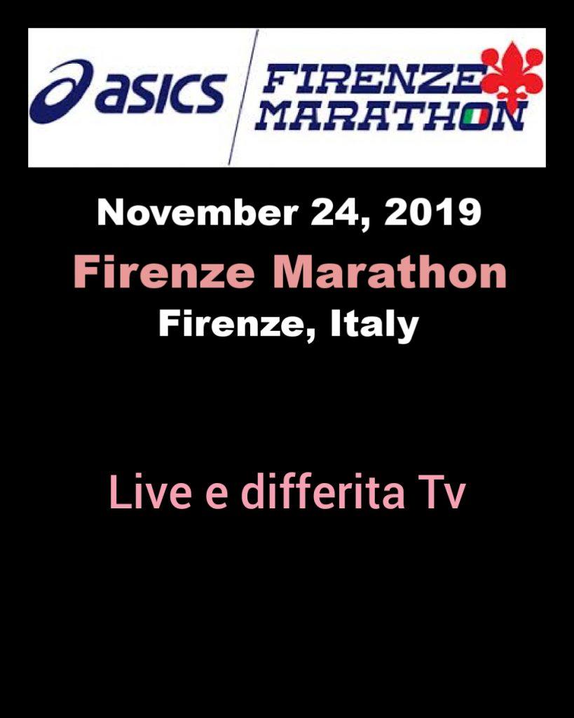 Domenica la Firenze Marathon 2019, iscritti, live e differita Tv