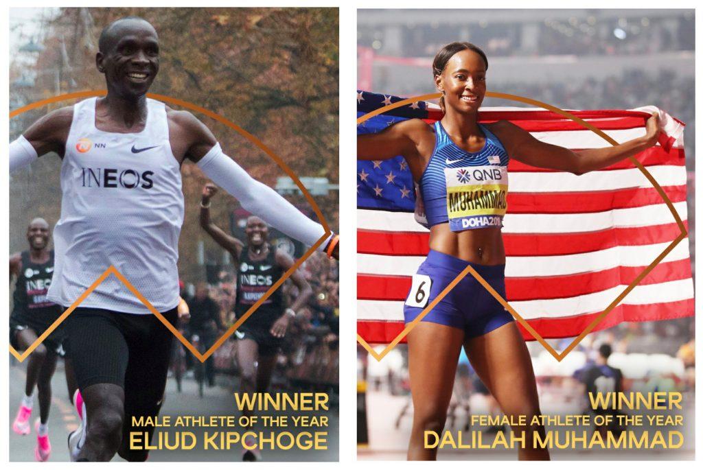 Eliud Kipchoge e Dalilah Muhammad sono i migliori atleti mondiali del 2019