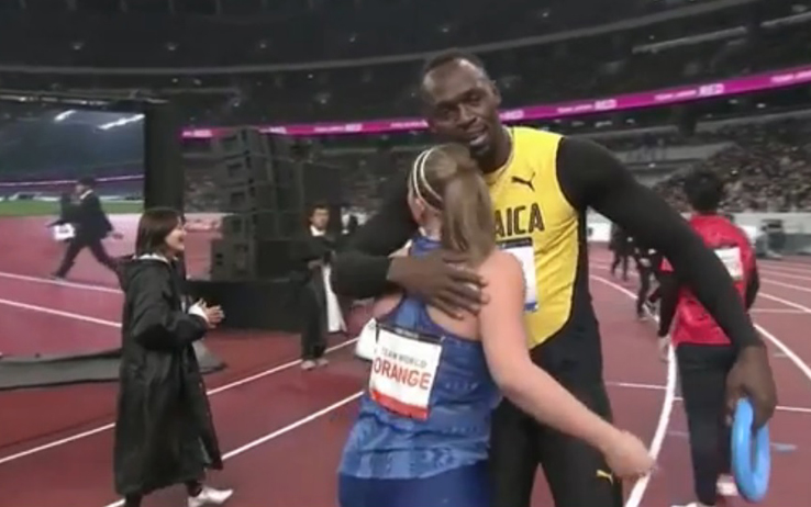 Il video di Bolt che torna a correre per l'inaugurazione dello stadio Olimpico di Tokyo