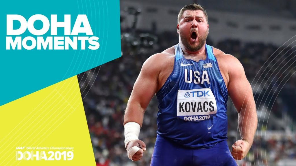 "Il ""Best"" dell'atletica 2019: Joe Kovacs riscrive la storia del getto del peso ai mondiali di Doha- il video"