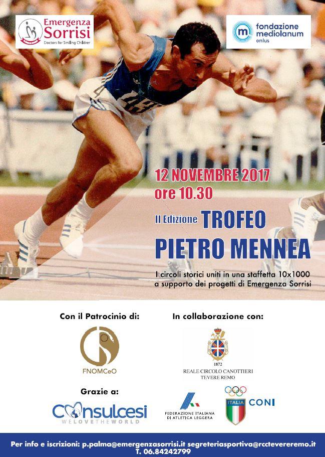 Trofeo Pietro Mennea: domani alle ore 10 appuntamento allo stadio dei Marmi a Roma