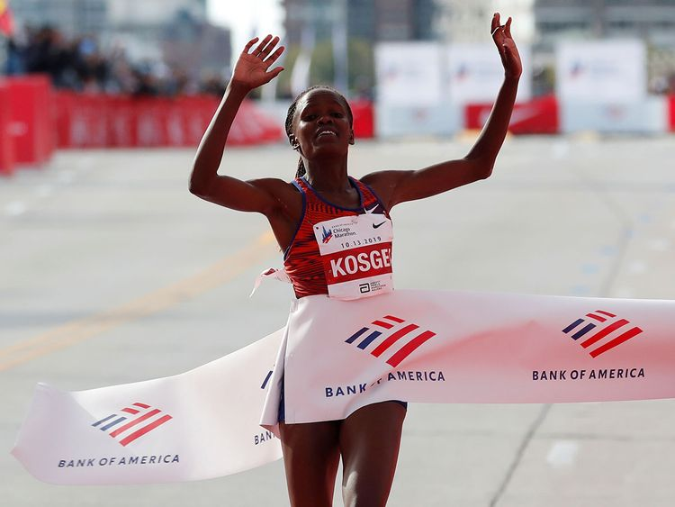 La primatista mondiale Brigid Kosgei correrà la mezza maratona di Ras Al Khaimah
