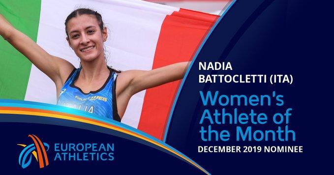 Nadia Battocletti in nomination per l'atleta europea del mese di dicembre