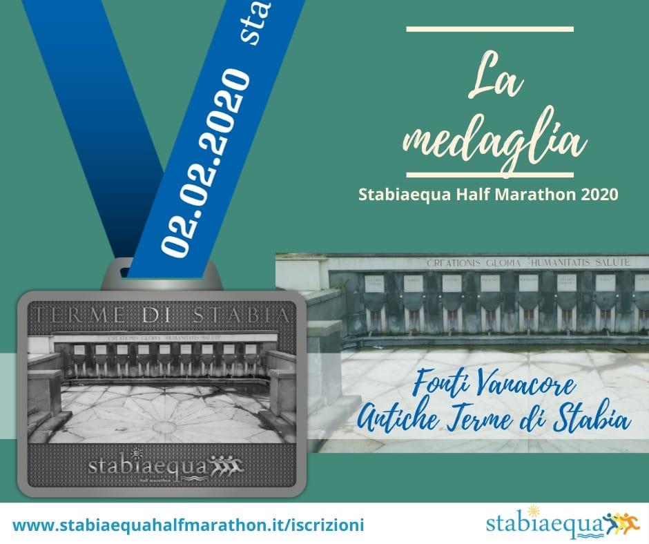 Stabiaequa 2020, svelata la medaglia: rappresenta le fonti di Castellammare. Martedì 28 gennaio (ore 11) la presentazione al Comune