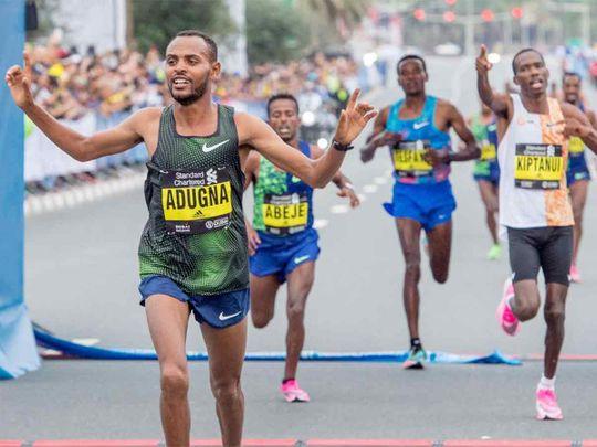 Show alla Dubai Marathon: in 11 sotto le 2 ore 06,40-  Degefa sub 2:20
