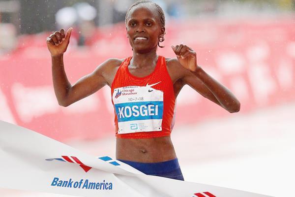 La primatista mondiale di maratona  Brigid Kosgei affiancherà Eliud Kipchoge nella London Marathon