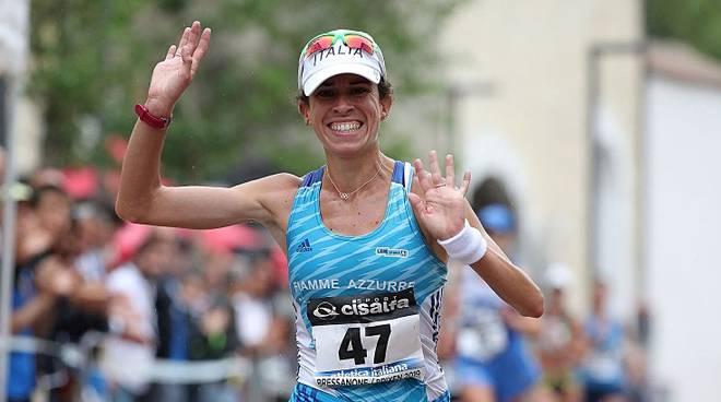 Eleonora Giorgi esordisce domenica 26 gennaio  a Grosseto nei 35 Km. di marcia