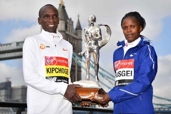 Kipchoge- Kosgei guideranno lo  squadrone keniano della maratona olimpica di Tokyo