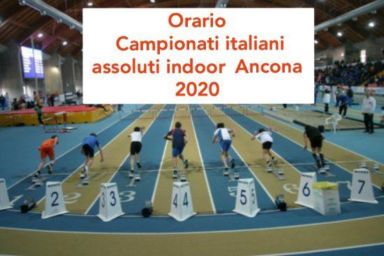 Assoluti indoor Ancona: ufficializzato l'orario della 2 giorni