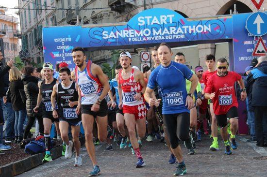 partenza Sanremo Marathon 2019
