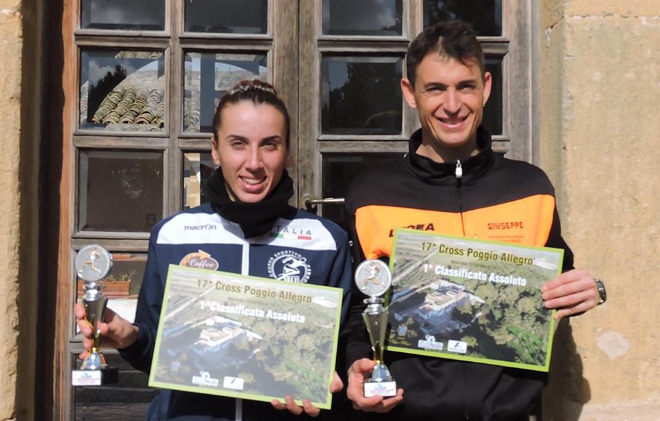Podismo: Alla 17° edizione del Cross di Poggio Allegro BioRace vittorie di Azzurra Agrusa e Giuseppe Spada.