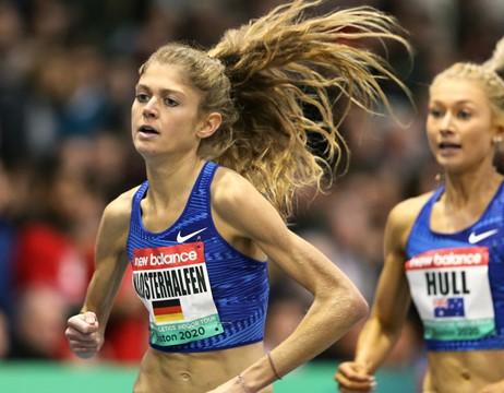 La tedesca Klosterhalfen sfiora il record europeo del miglio indoor con 4: 17.26