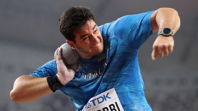 Leonardo Fabbri ancora lontano nel peso,  21,44 in Spagna