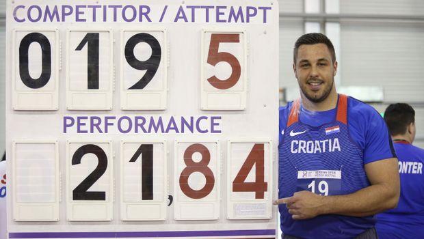 A Belgrado nel peso bordata di  21,84  del croato Filip Mihalevic