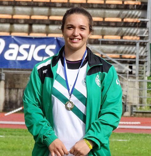 Rachele Mori  migliora il record italiano del martello allievi a Lucca