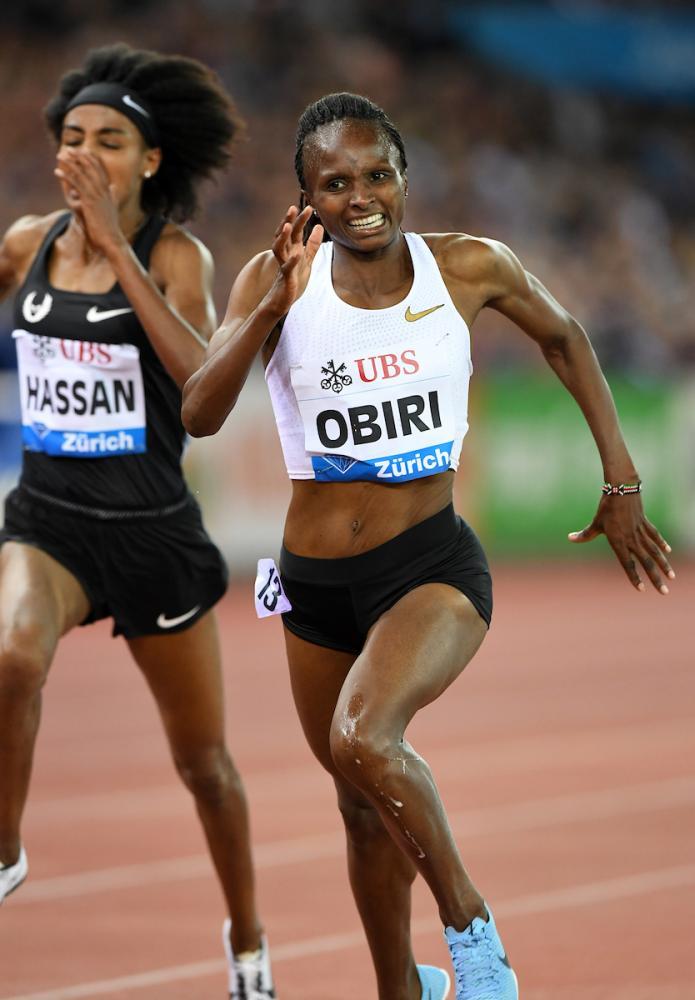 Si infortuna la campionessa del mondo dei 5.000 m. Hellen Obiri, a rischio l'inizio della stagione