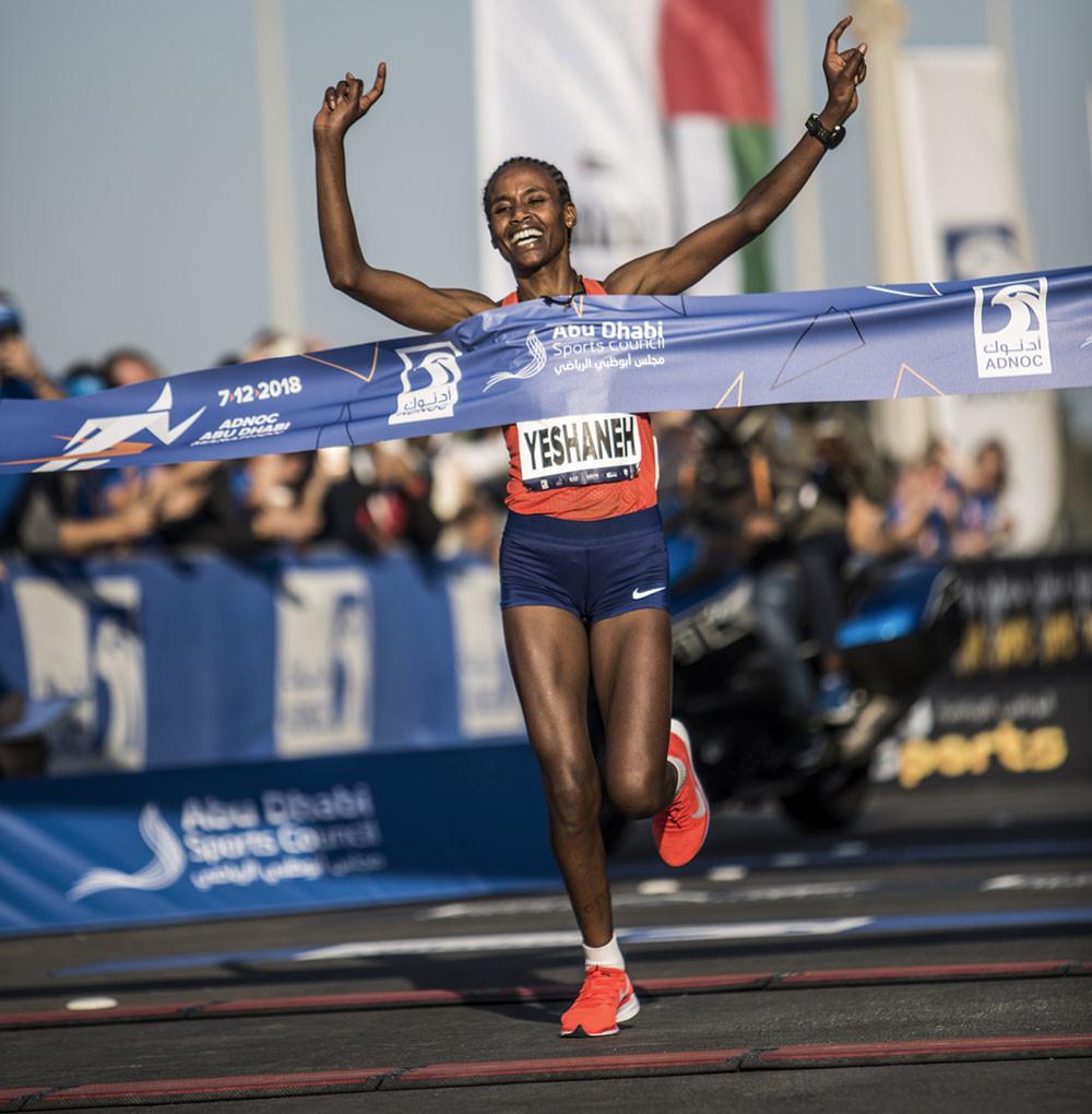Cade il record del mondo nella mezza maratona RAK 2020, Ababel Yeshaneh corre in 64:31