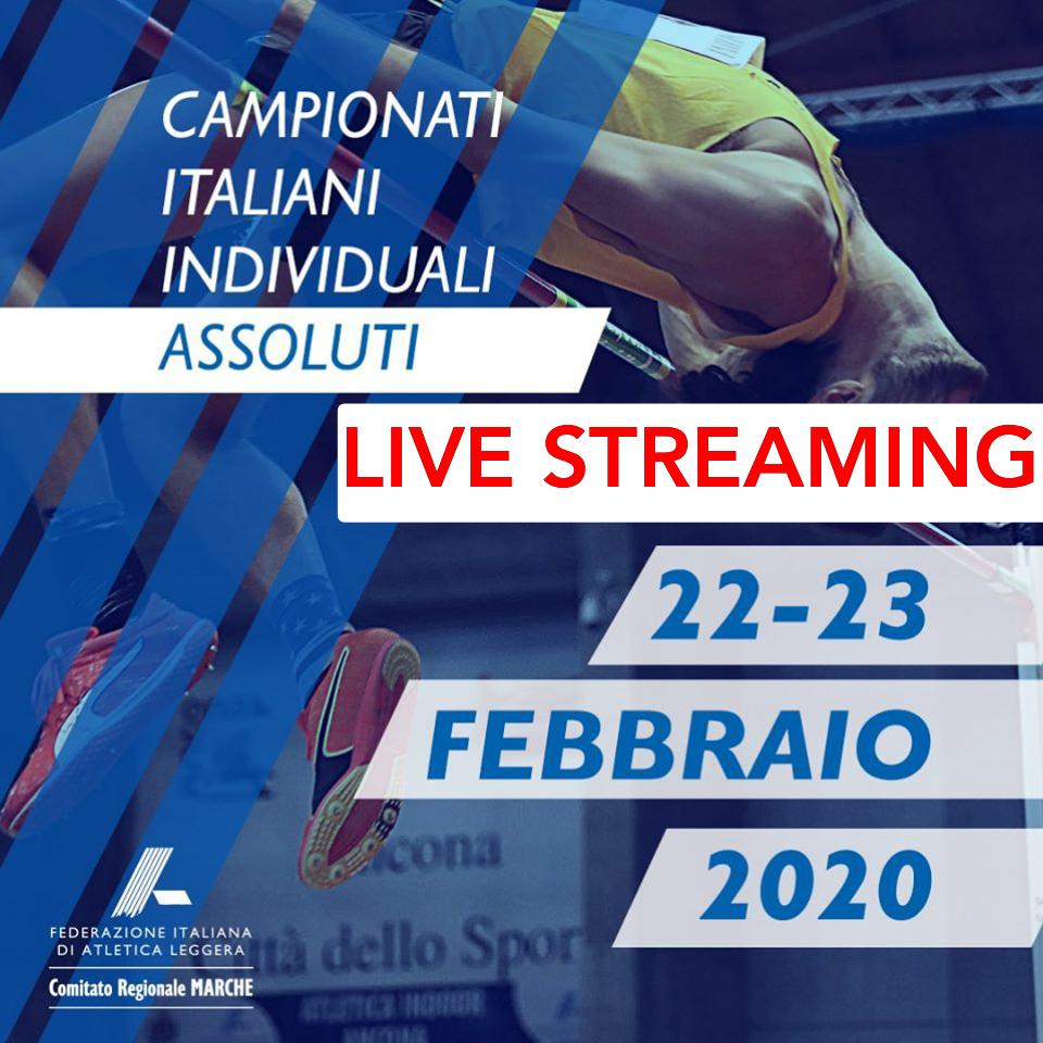 Assoluti Ancona: la diretta streaming della prima giornata con le prove multiple