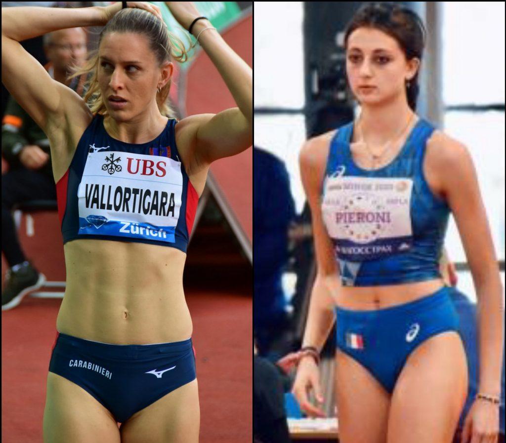 Elena Vallortigara e Idea Pieroni in gara il 29 febbraio nel Siena High Jump Indoor Contest 2020