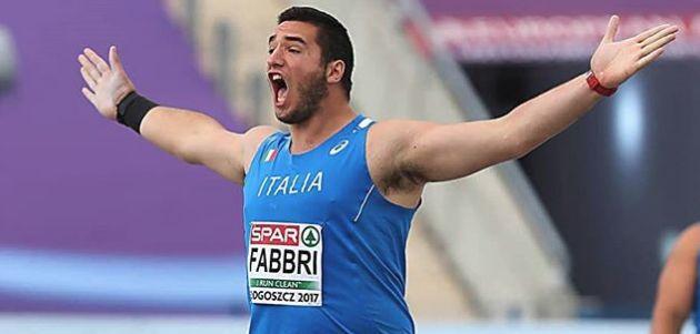 Strepitoso Leonardo Fabbri: record italiano indoor nel peso, battuto Alessandro Andrei