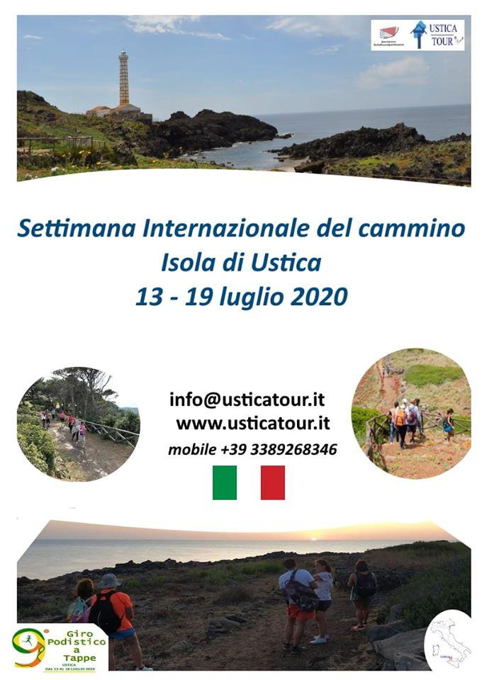 Novità e crescita a luglio 2020 con la prima Settimana Internazionale del Cammino Isola di Ustica
