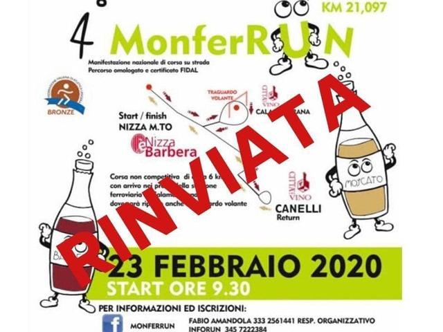 Coronavirus: annullata la Monferrun, gara podistica tra Nizza e Canelli