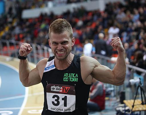 """Luca Lai sfreccia nei 60 metri a Magglingen, 6""""57 a soli 6 centesimi dal record italiano"""