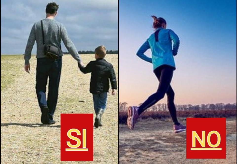 Il Viminale sentenzia: passeggiare con i figli SI, correre NO!