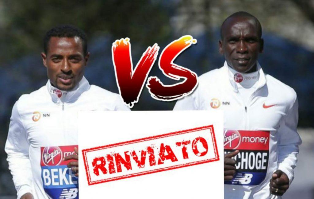 Salta la sfida Kipchoge vs Bekele di fine aprile, rinviata la London Marathon