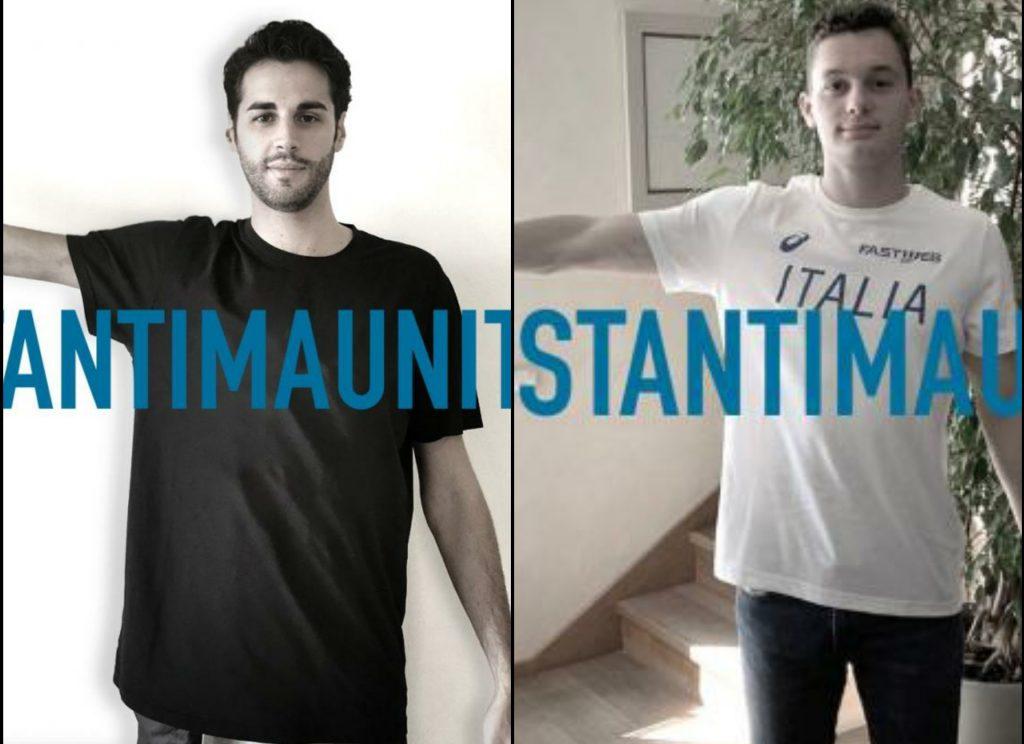 Tamberi-Tortu testimonial della campagna  #distantimauniti