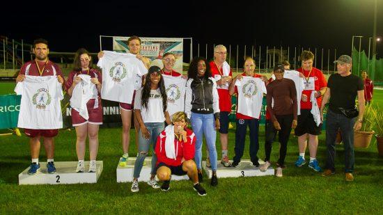 2019_Meeting Lignano Fraser, Thompson e Jackson con gli atleti Special Olympics