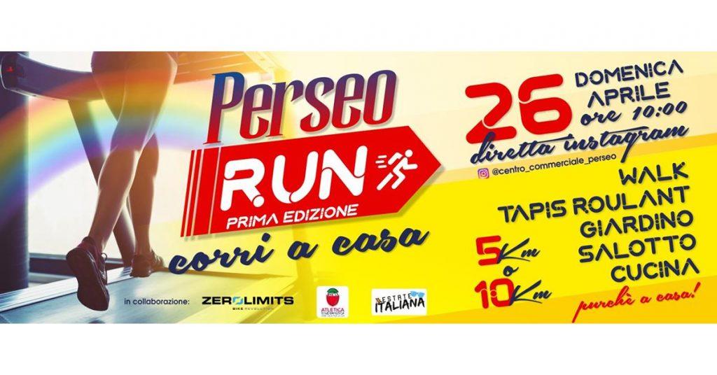 Il 26 aprile partecipa alla Perseo Run, la gara podistica virtuale da casa
