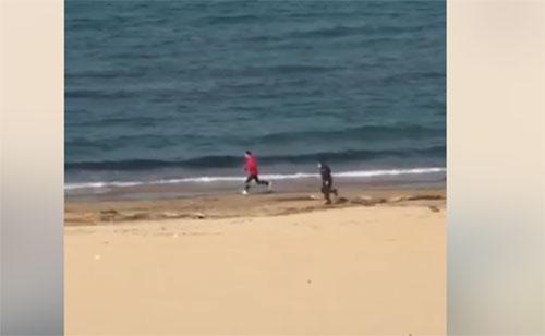 Il runner di Pescara scappato ai militari  esce allo scoperto, ecco di chi si tratta
