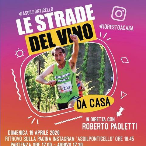 """Domenica 19 aprile corri """"da casa"""" il Trofeo Le Strade del Vino"""