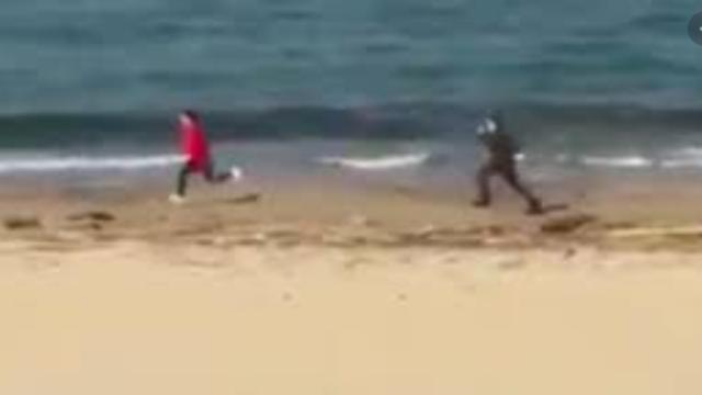 Runner multato di 4000 euro perché scappato ad un controllo dei Carabinieri in spiaggia